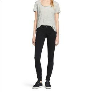 Rag & Bone Skinny Jean in Black Plush 25